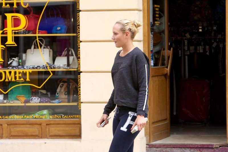 Donna Vekic in her hometown Osijek