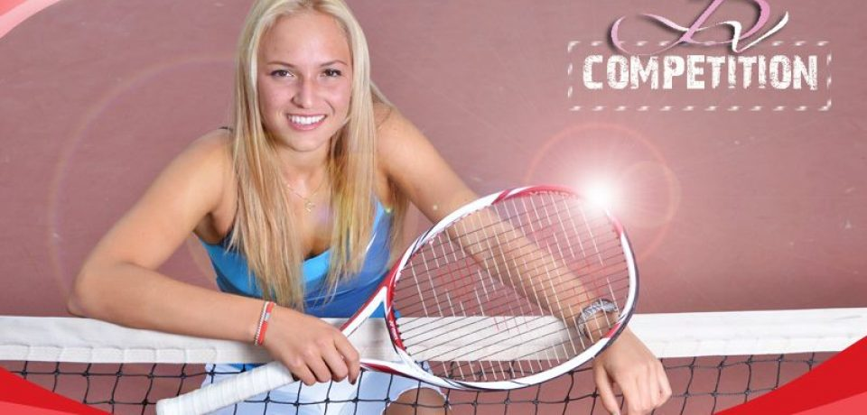 Win Donna 's Yonex VCore racquet
