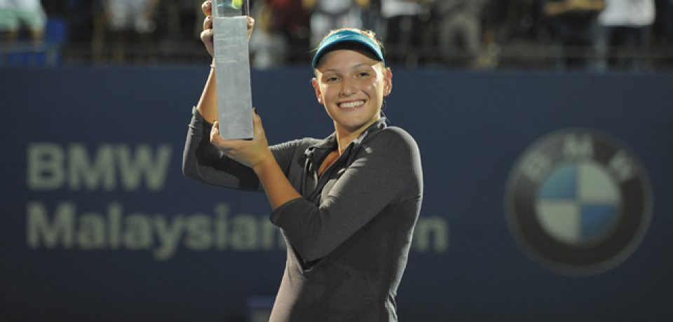 Donna Vekic won her very first WTA title at the BMW Malaysian Open